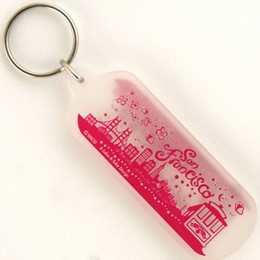 San Francisco Easy Going Frosted Acrylic Oblong Keychain