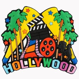 Hollywood Collage Laser Magnet