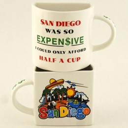 San Diego Collage Half Cup Mug (each).