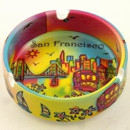 "San Francisco Neon Rainbow 4""  Ashtray"
