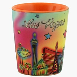 Las Vegas Neon Rainbow Shotcup with Glitter