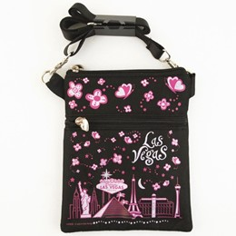 Las Vegas Easy Going Black Canvas Hip Bag