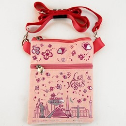 Las Vegas Easy Going Pink Canvas Hip Bag