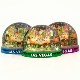 Las Vegas Dice Collage Snowglobe Magnet (each).