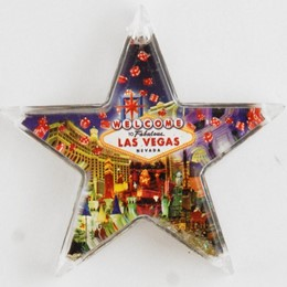 Las Vegas Dice Collage Acrylic Starshape Magnet