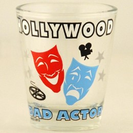 Hollywood Bad Actor Shotglass