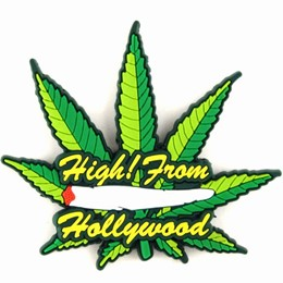 Hollywood High! Green Leaf Lasercut Magnet