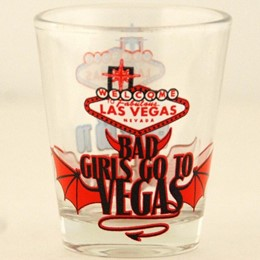 Las Vegas Good/Bad Girls Shotglass