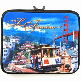 "San Francisco Collage 13"" Laptop Travel Case"