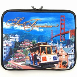"San Francisco Collage 15"" Laptop Travel Case"