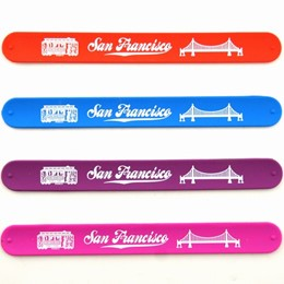 San Francisco Golden Gate/Cable Car Slap Wristband-Asst'd