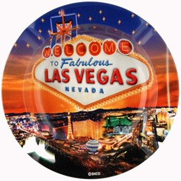 Las Vegas Stars Round Tin Ashtray