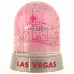Las Vegas Easy Going Mini Hidome Snowglobe