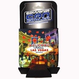 Las Vegas Dice Collage Beer Can Coozie