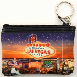 Las Vegas Stars Small Zip Purse Keychain