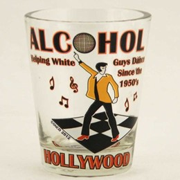 Hollywood Alcohol/White Guys Shotglass