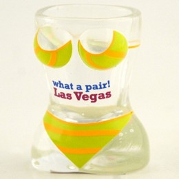 Las Vegas What A Pair! Bikini Shaped Shotglass