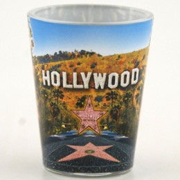 Hollywood Walk Of Fame/Palms Shotglass