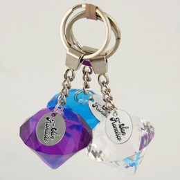 San Francicso Diamond Acrylic Keychain With Tag (each)