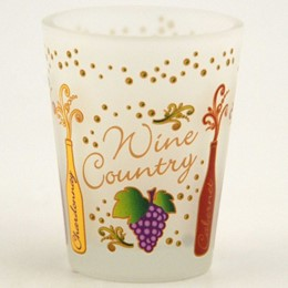 California Wine Varietals Frost Shotglass