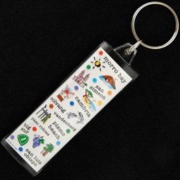 Central Coast Expressions Long Rectangle Acrylic Keychain
