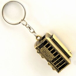San Francisco Cable Car 3-D Bronze Metal Keychain