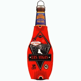 Las Vegas Red Deco Bottle Coozie