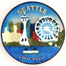 Seattle Great Wheel Poly Magnet