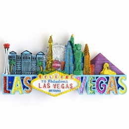 Las Vegas Sign/Skyline Glitter Poly