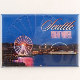 Seattle Great Wheel Night Rectangle Magnet