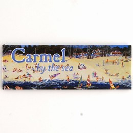 Carmel Beach A. Chen Panoramic Magnet