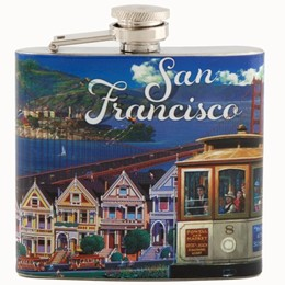 San Francisco A. Chen Collage 5oz Flask