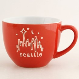 Seattle Typewritter red Cappucino Mug