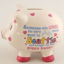 Seattle Someone Loves Me Piggy Bank