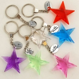 San Francisco Starshape Acrylic Keychain With Tag (each)