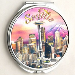 Seattle Sunset Compact Mirror