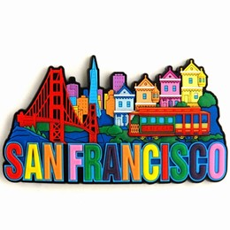 San Francisco Spellout Collage Laser Magnet