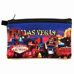 Las Vegas Metallic Collage 3x5 Purse - Neoprene