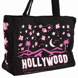 Hollywood Easy Going Black Tote-Canvas