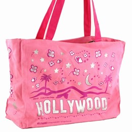 Hollywood Easy Going Pink Tote-Canvas