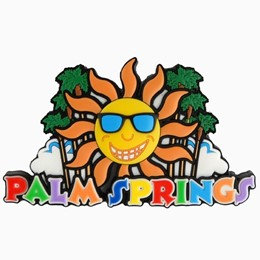 Palm Springs Sun/Palms Laser Magnet