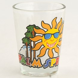 Palm Springs Sun/Palms Shotglass