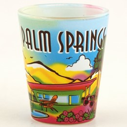 Palm Springs Neon Rainbow Shotglass