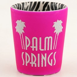 Palm Springs Pink Spray Shotglass