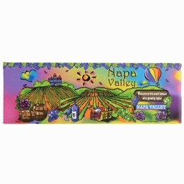 Napa Valley Neon Panoramic Magnet