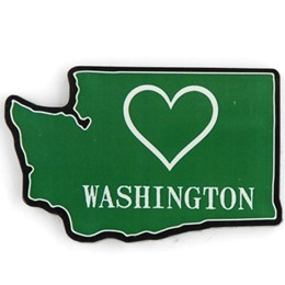 Washington Heart Cutout Acrylic Magnet
