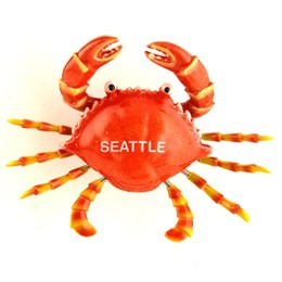 "Seattle Wiggly Crab 3"" Magnet"