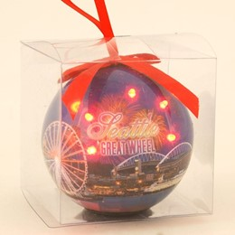 Seattle Great Wheel Ball Ornament with LED'S