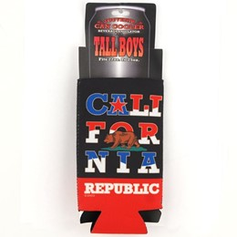 California Bear Stack Tall Boy Coozie