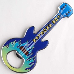 Los Angeles Guitar Shape Bottle Opener Blue/Green Magnet
